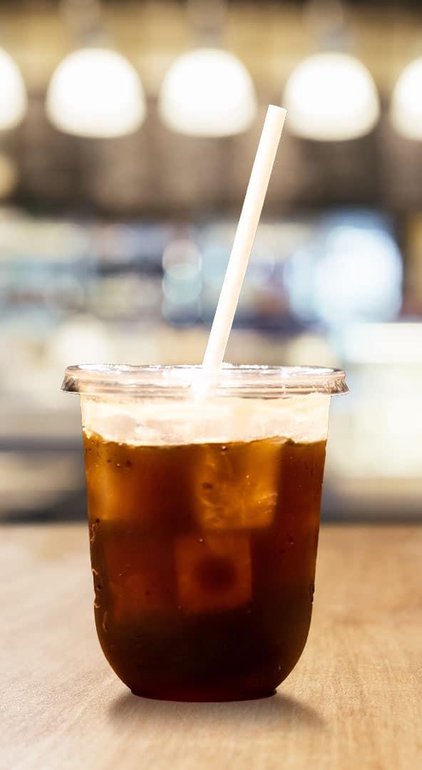 The Little BOSS paper straw in drink